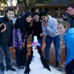 The juniors took fourth place in the snowman making competition.