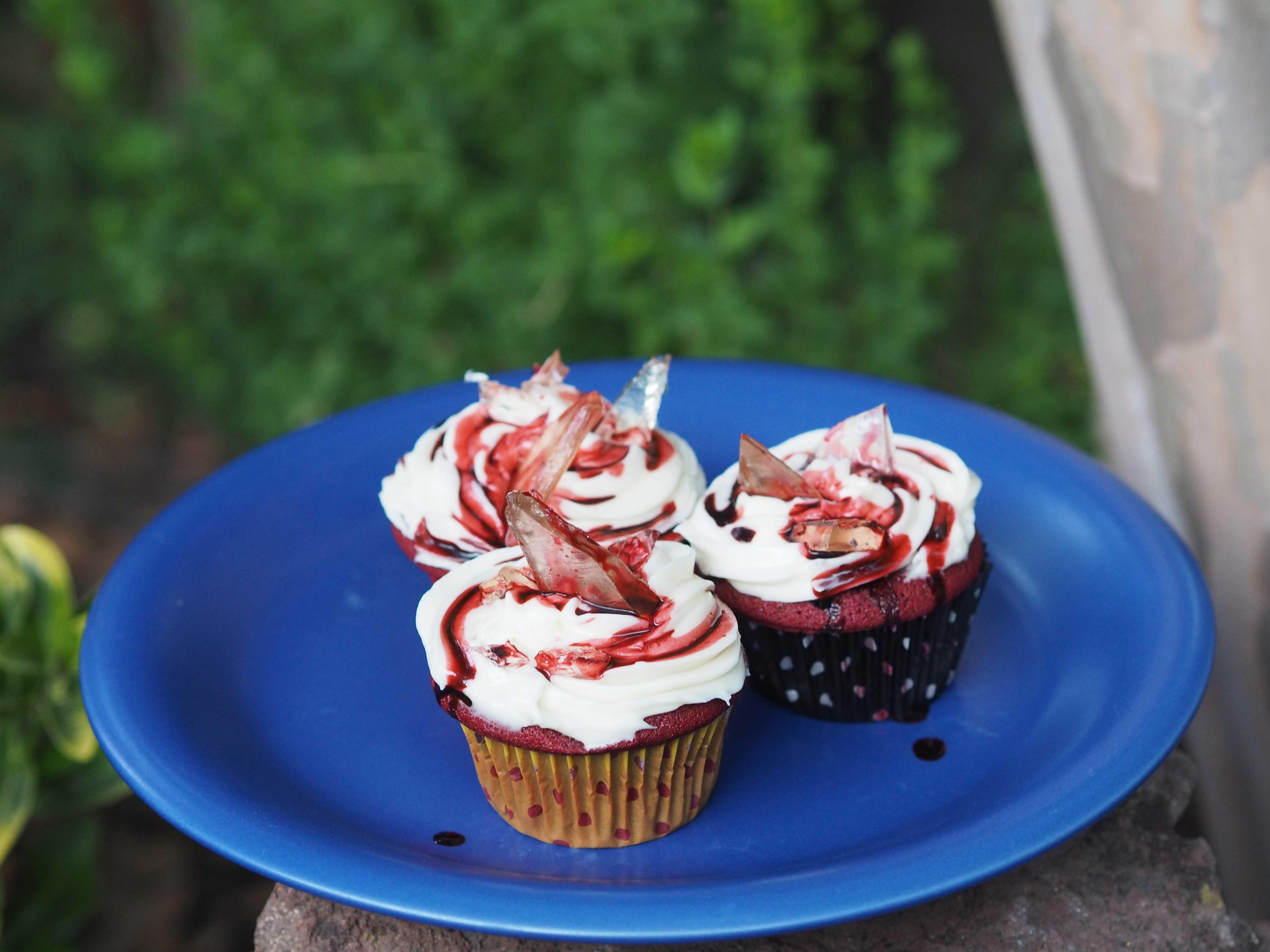 Bloody Red Velvet Cupcakes