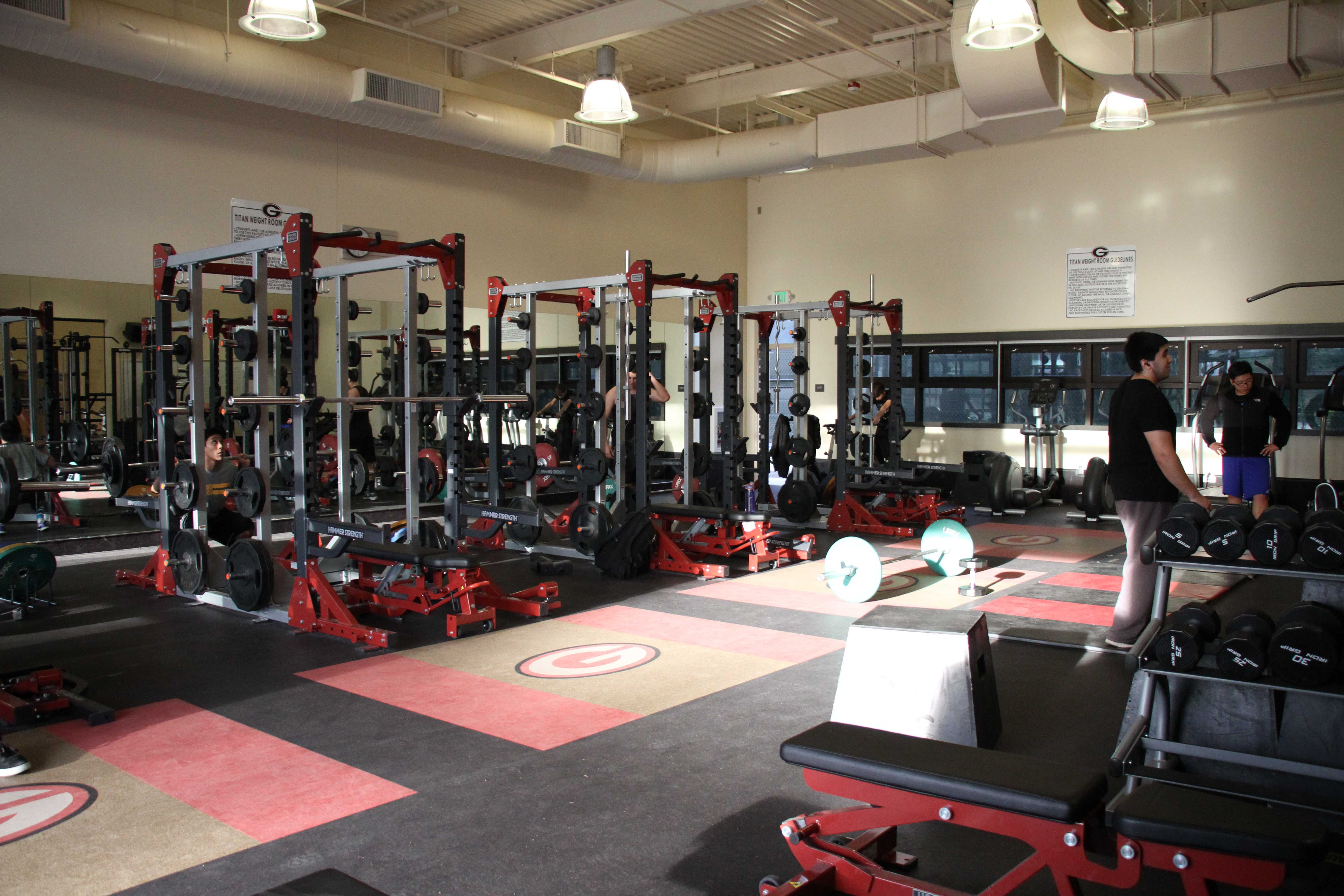 Fitness center available after school for student use