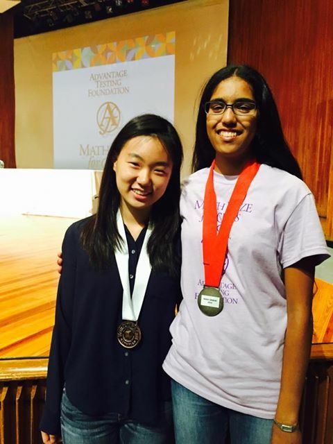 Ahn and Sankar qualified for the Math Prize for Girls Olympiad. Courtesy of Jane Ahn