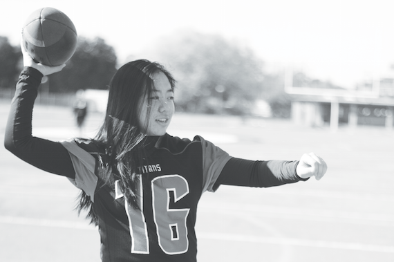 Senior kicker Sara Zhang flourishes in male-dominated sport