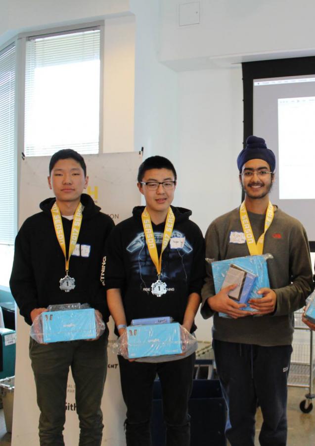 Gunn sophomores attend Los Altos hackathon, take first place