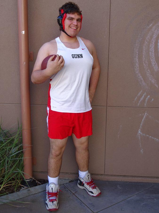 Senior Andy Maltz: Football, Track, and Wrestling