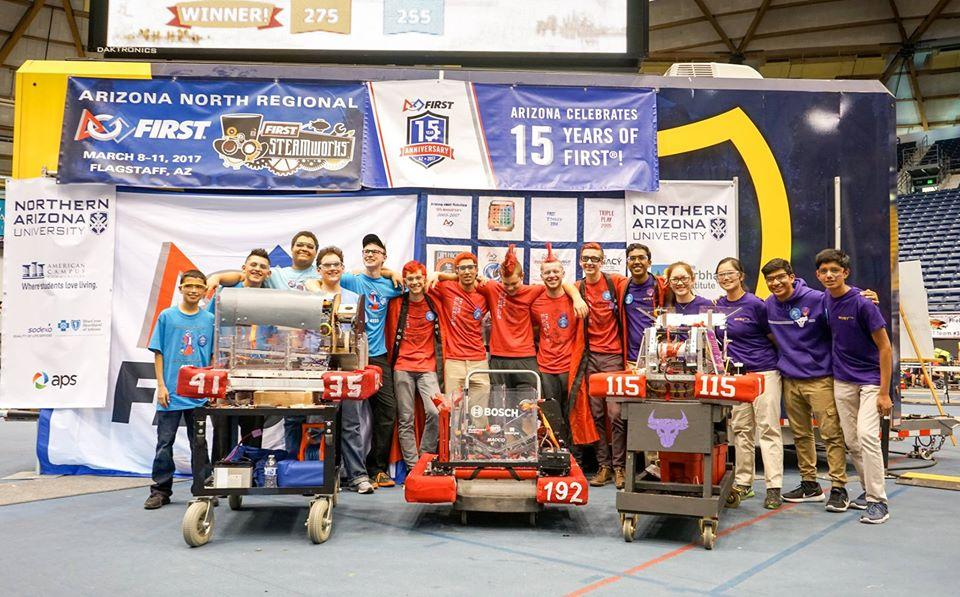 GRT sweeps first at robotics regional competition