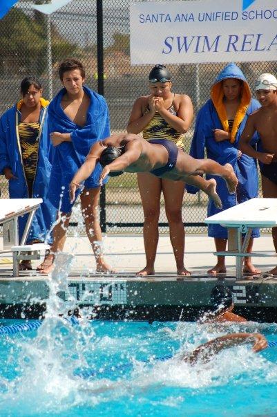Teachers share high school, college sports stories - Math teacher Carlos Martinez: swimming