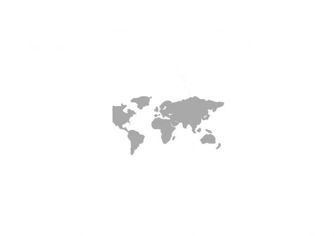 grayscale world map