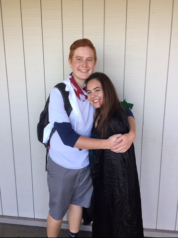 Students and staff share love of spirit: senior Kim Fenwick