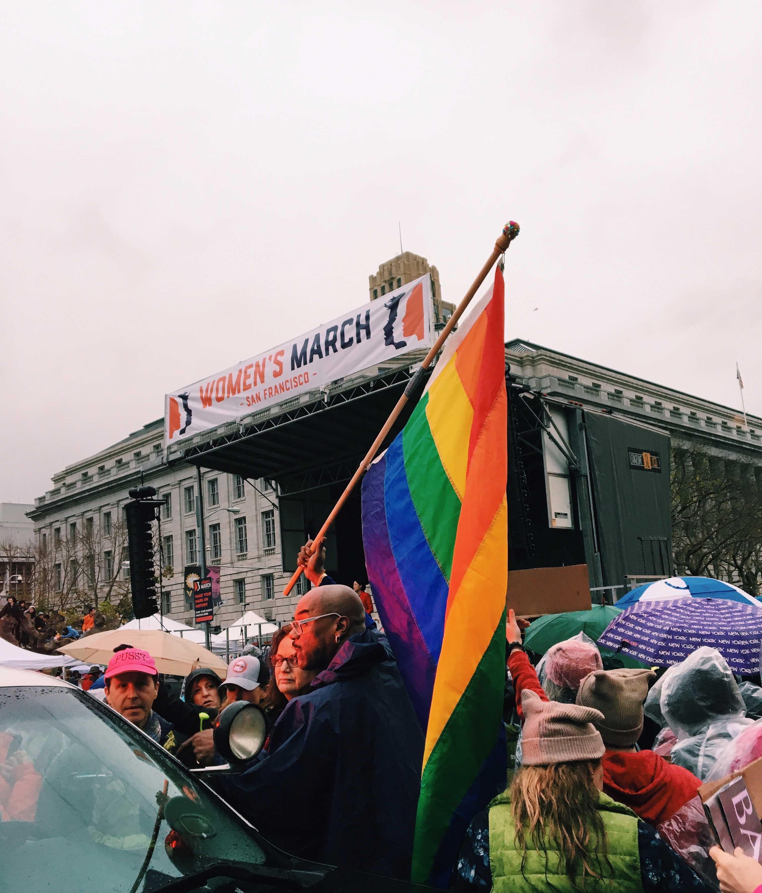 San Francisco Women's March, Jan. 21, 2017. Photo courtesy of Michaela Fogarty.