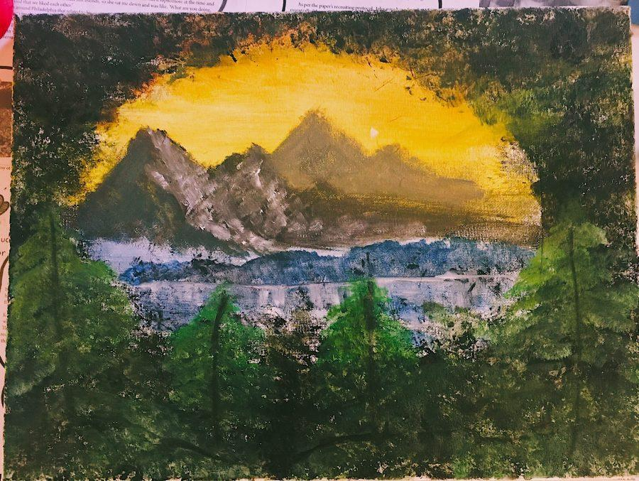 Staffer overcomes obstacles in order to learn new skills: Painting