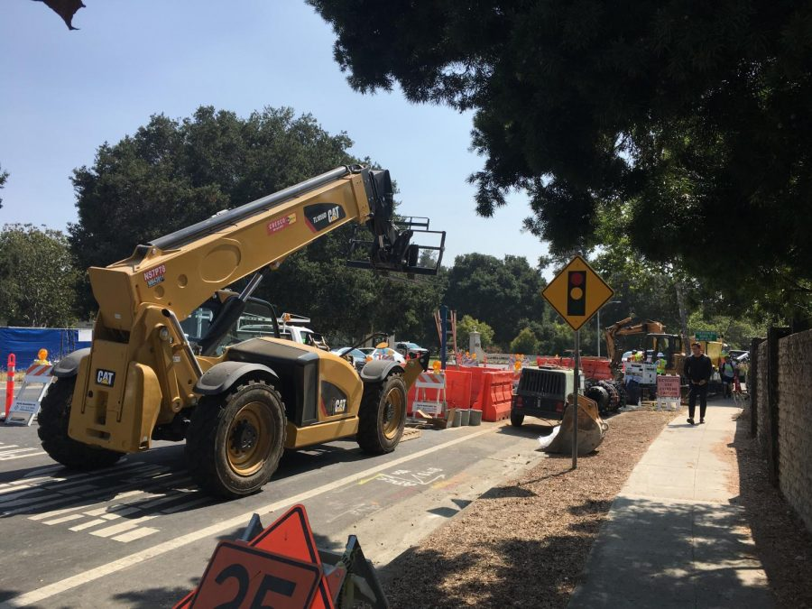 Construction across Palo Alto affects student commutes