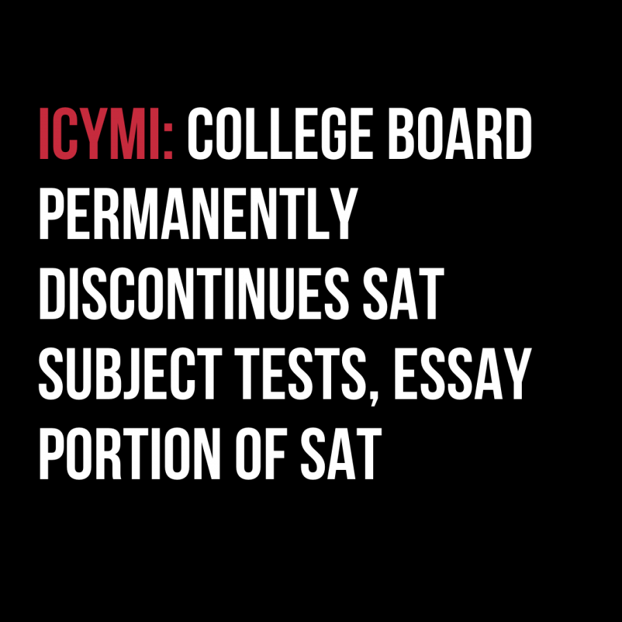 College Board permanently discontinues SAT Subject Tests, essay portion of SAT