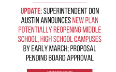 Update: Superintendent Don Austin announces new plan potentially reopening middle school, high school campuses by early March
