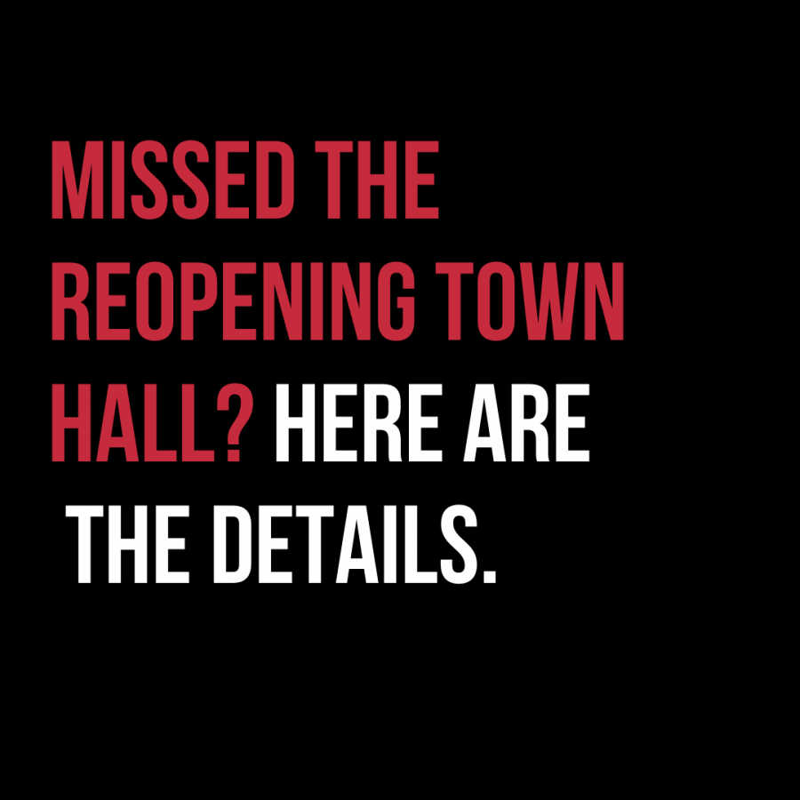 Missed the reopening town hall? Here are the details.