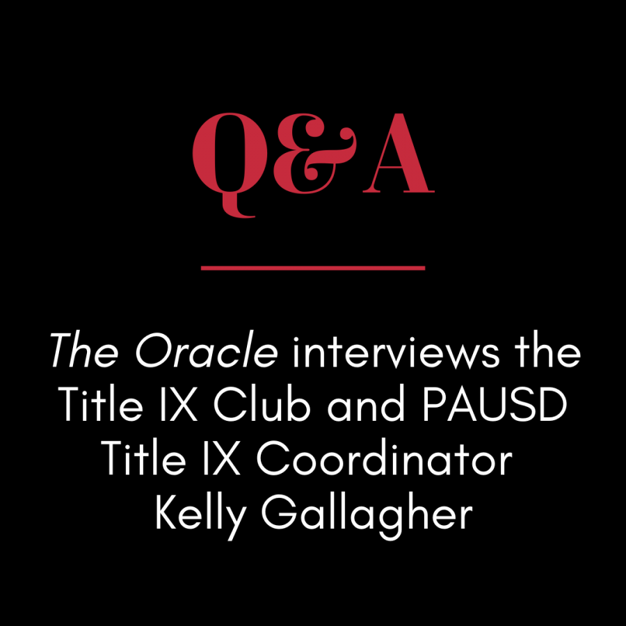 Q&A: The Oracle interviews the Title IX Club and PAUSD Title IX Coordinator Kelly Gallagher